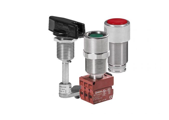 Элементы управления и сигнализации Ex d IICU серии EF для корпусов УНВ(В) и УНВ(С)