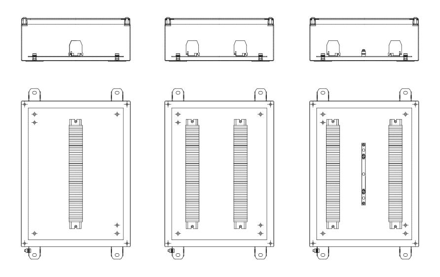 Примеры расположения клеммных колодок