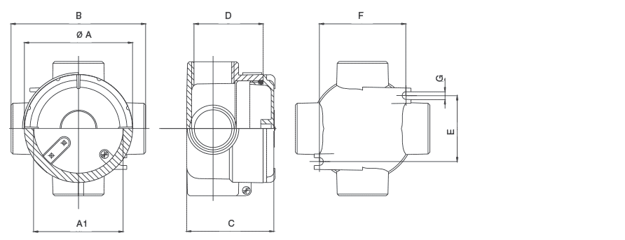 Габаритные размеры коробок серии S в зависимости от модификаций