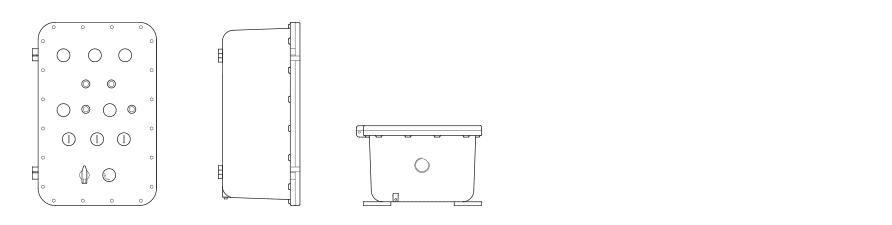 Щиты для систем освещения УНВ(С)-ЩО с фланцевым соединением