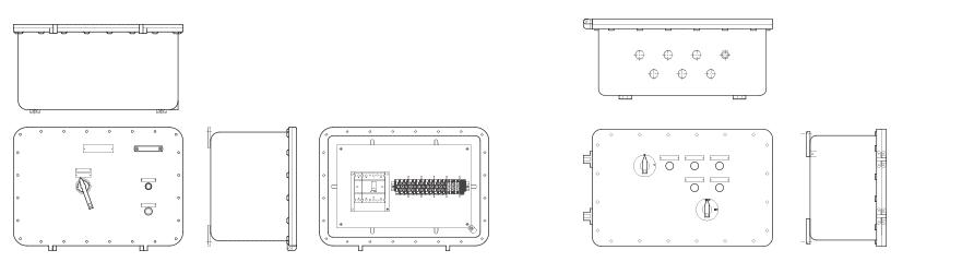 Щиты для систем управления и сигнализации УНВ(С)-ЩУ сфланцевым соединением